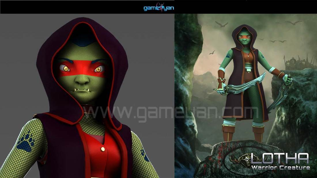 GameYan Studio - Lotha – Warrior Character Animation Model By GameYan 3d Production HUB
