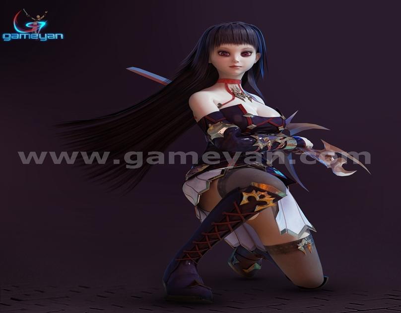 GameYan Studio - Seria – Beautiful 3D Character Animation Model By GameYan Game Art Outsourcing Studio