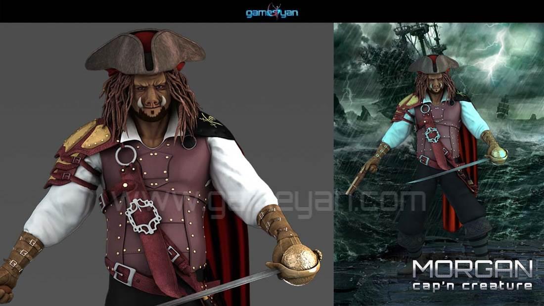 GameYan Studio - 3D Morgan Creature Character Modeling by 3D Animation Studio - Houston, Texas