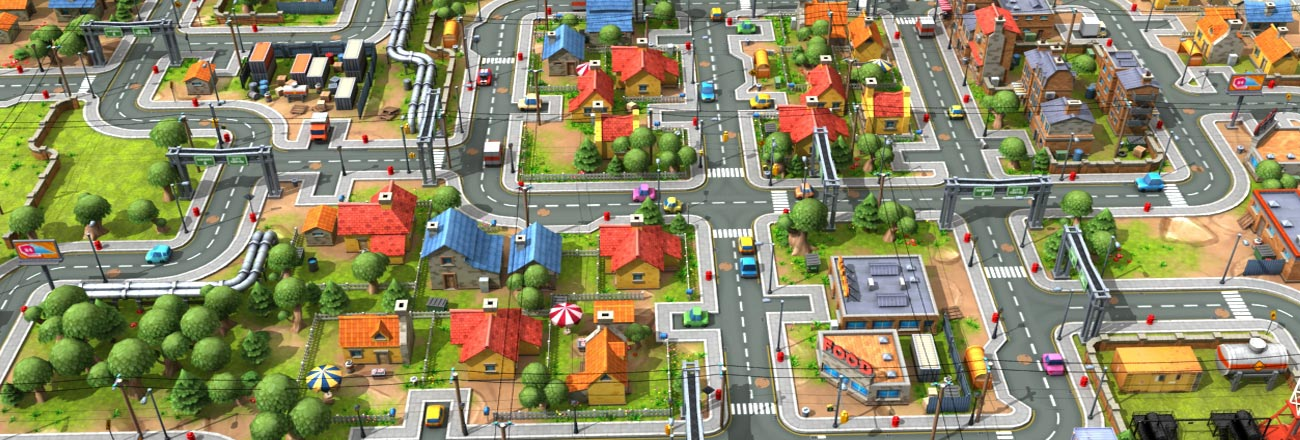 GameYan Studio - 3D GAME ASSET MODELING DESIGN STREET VIEW – CITY DEVELOPMENT