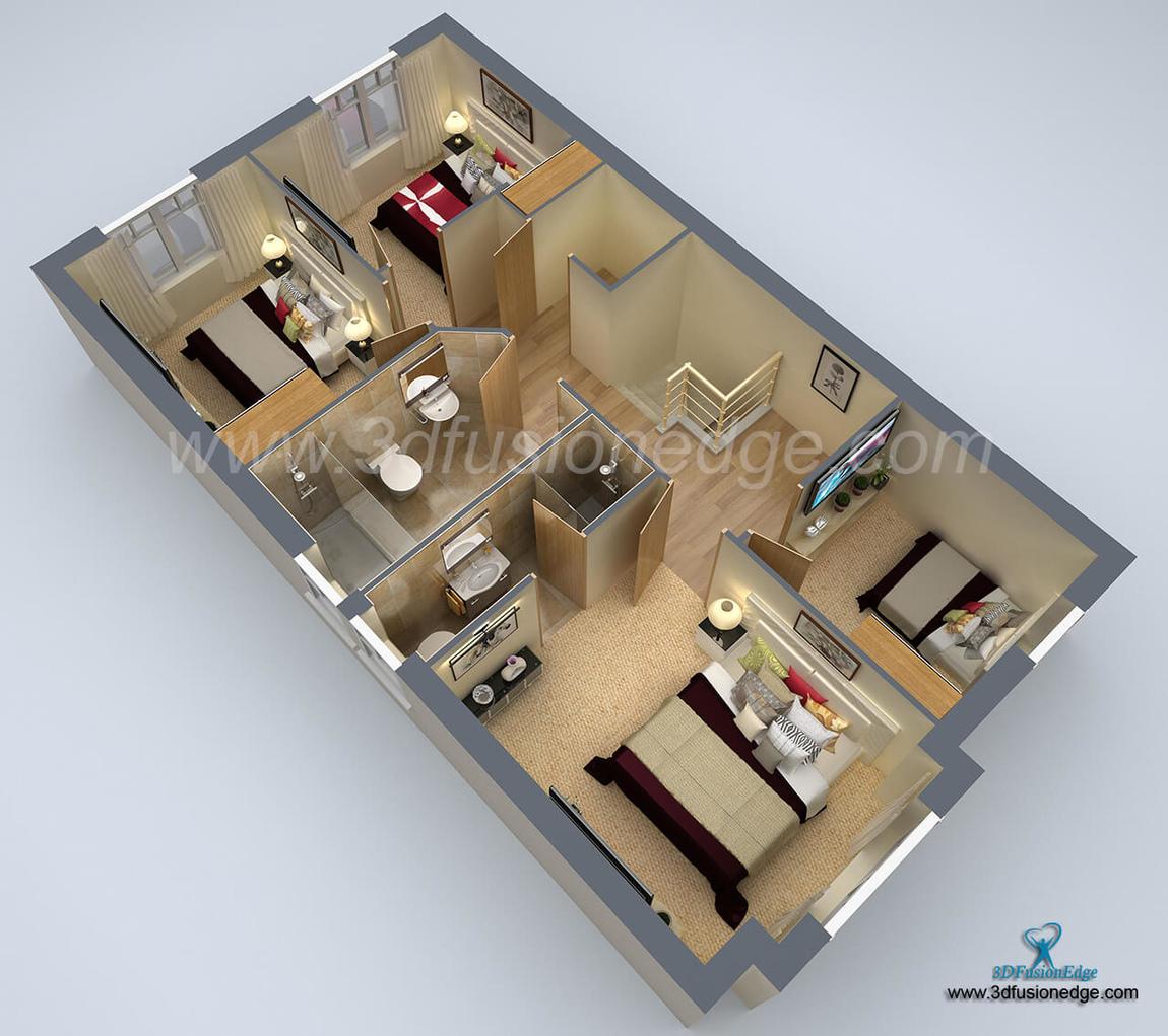3dfusionedge - 3D Home Floor Plan Design
